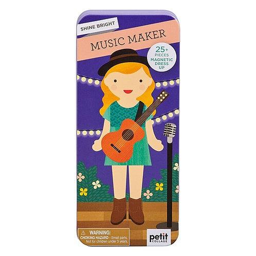 Magnetspiel Musikerin von Petitcollage