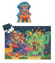 Djeco Puzzle Laser Boy  Action Puzzle für Superhelden-Fans. Die ungewöhnliche Verpackung ist ein echter Blickfang.  Inhalt: 36 Teile  AR Nr. 7228