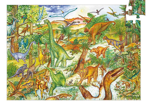 Puzzle Dinosaurier - 100 Teile von Djeco