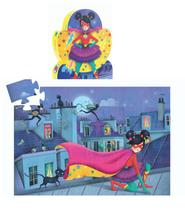 Djeco Puzzle Superstar  Tolles Puzzle für Superhelden-Fans. Die ungewöhnliche Verpackung ist ein echter Blickfang.  Inhalt: 36 Teile  AR Nr. 7226