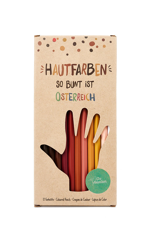 12 Hautfarben-Buntstifte Österreich Edition