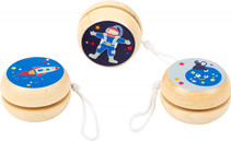 """Small foot Jo-Jo's """"Auf und ab im Weltraum""""  Mit diesen lustigen Weltraum Jo-Jo's aus Massivholz kommen kleine Astronauten voll auf ihre Kosten. Alter: ab 6 Jahren. Varianten nicht frei wählbar.  AR Nr. 11448"""