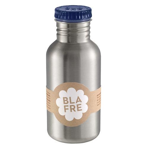 BLAFRE Edelstahl-Trinkflasche 0,5l in dunkel blau