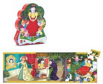 Djeco Puzzle Schneewitchen  Traumhaftes Puzzle mit Schneewittchen-Motiv. Das Puzzle zeigt verschiedene Szenen aus dem bekannten Märchen. Ideal zum Geschichtenerzählen für kleine Märchenfreunde. Inhalt: 50 Teile  AR Nr. 7259