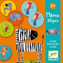 Djeco Memo Klassiker Tiere  Farbenfrohes Memory-Spiel im tollen Design! Auf 30 Karten tummeln sich niedliche Tiere vom Alligator bis zum Zebra.  Das macht nicht nur Spaß, das Spielen fördert auch noch Gedächtnis und Konzentrationsvermögen. Eine tolle Beschäftigung für Kinder ab 3 Jahren. Inhalt: 30 Teile (Durchmesser 7 cm)  AR Nr. 8159