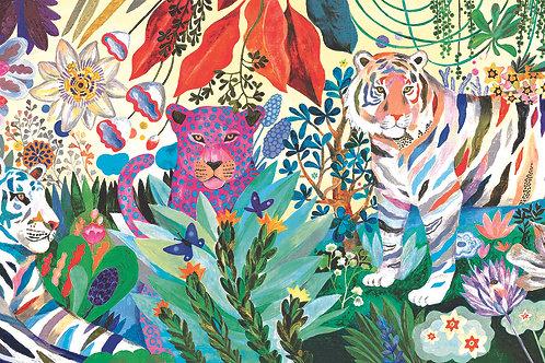 Regenbogen Tiger 1000 Teile Puzzle