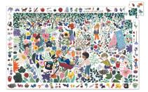 Djeco Puzzle Tausend Blumen  Ein doppelter Spaß für Blumenfreunde ab 5 Jahren. Aus 100 Teilen lässt sich eine tolle Blumenwelt zusammensetzen. Am Rand sind Bildausschnitte abgebildet, die im Hauptmotiv wiedergefunden werden sollen. Wer findet den kleinen rosa Vogel zuerst?  AR Nr. 7507
