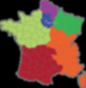 Carte représentants TSM-France