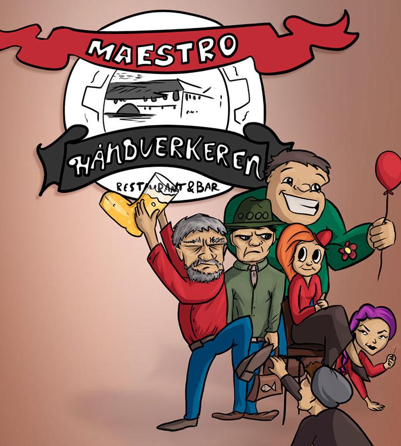 Maestro Reklame Illustrasjon