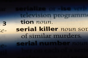 serial killer word in a dictionary. seri