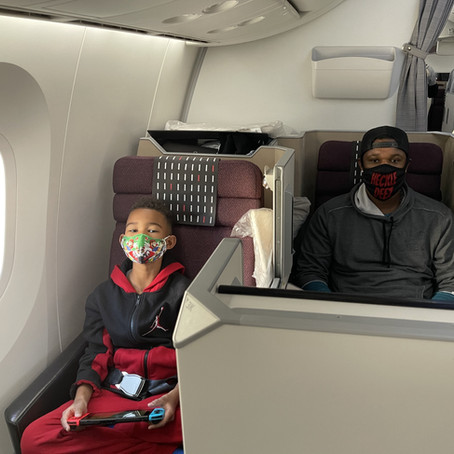 See How The Jones Crew Travels Home JAL Business Class To Wheels Up PJ (Vlog)