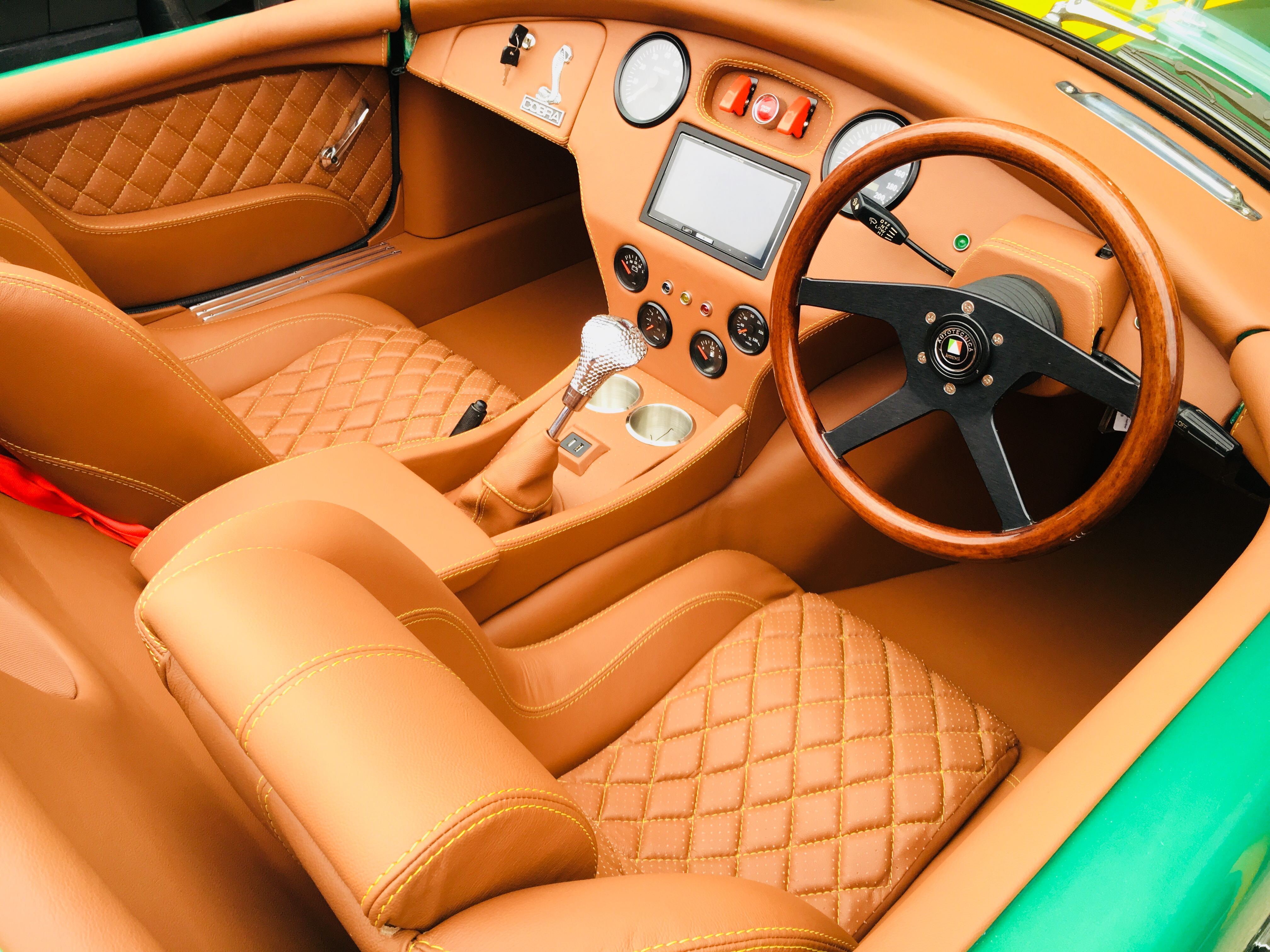 Cobra handmade leather interior