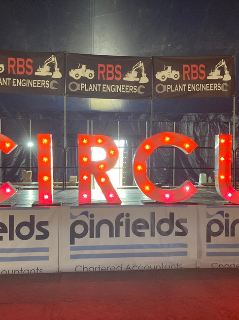 solid PVC banners printed and installed by the Peeli team