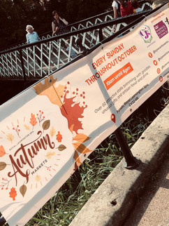 PVC solid autumn events banner