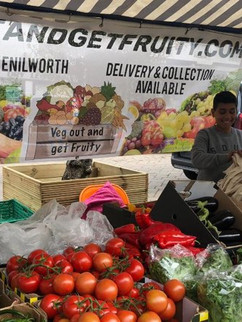 Veg out and get fruity mesh stall banner