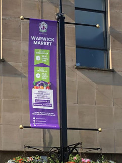 Lamppost mesh banner