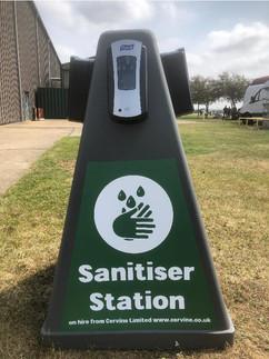 Sanitiser station stickers for festivals