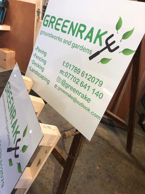 Greenrake promotional boards