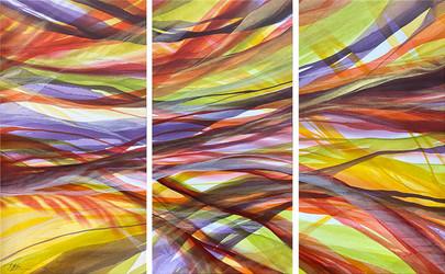 Autumn Breeze Triptych