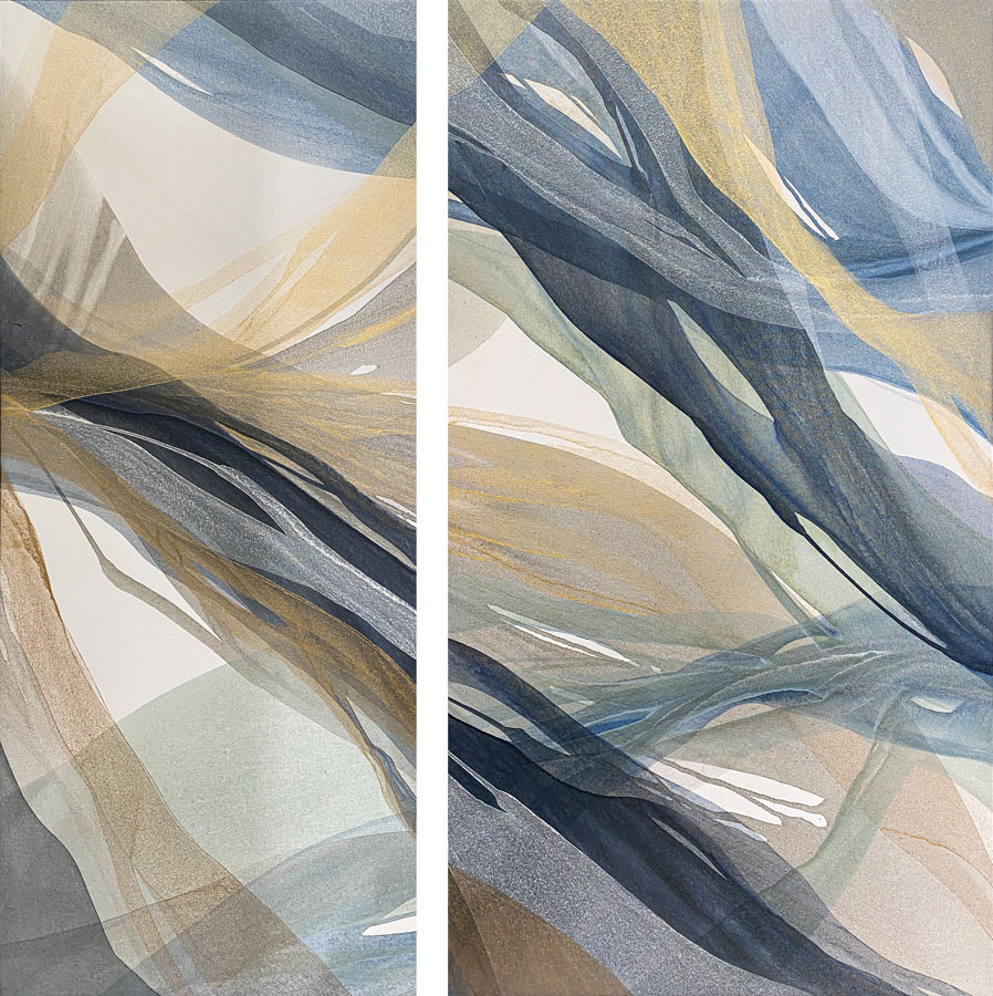 Willow Breeze Diptych