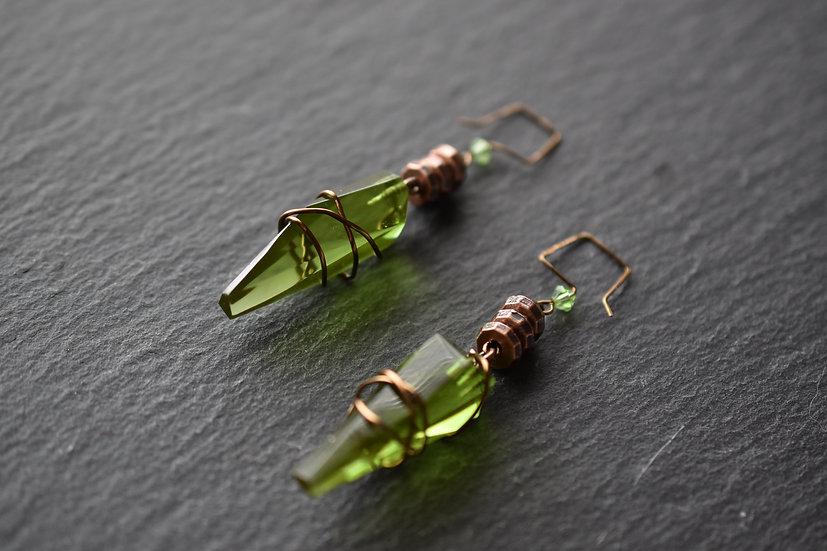 Green Kyber Earrings