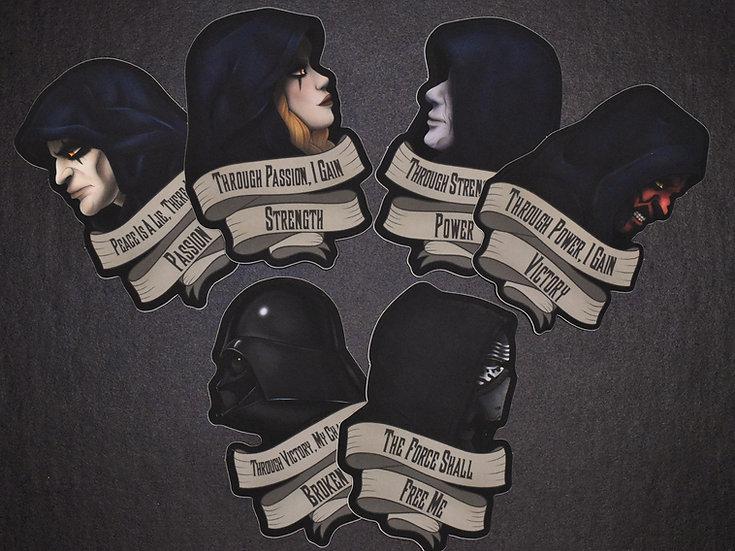 Sith Code Sticker Set
