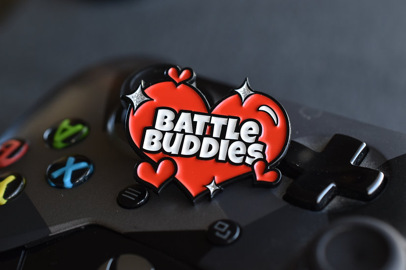 Battle Buddies Enamel Pin