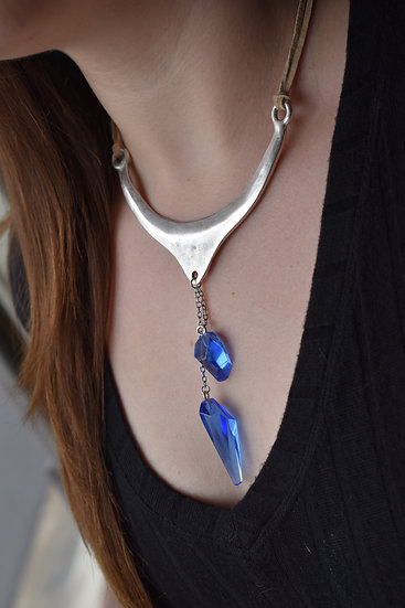 Blue Kyber Necklace