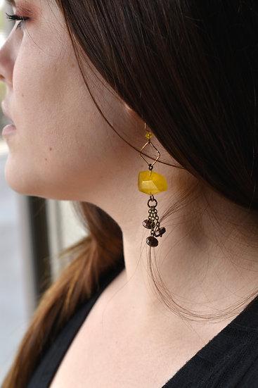Yellow Kyber Earrings
