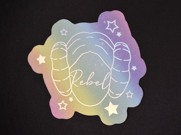 Pastel Rebel Princess Sticker