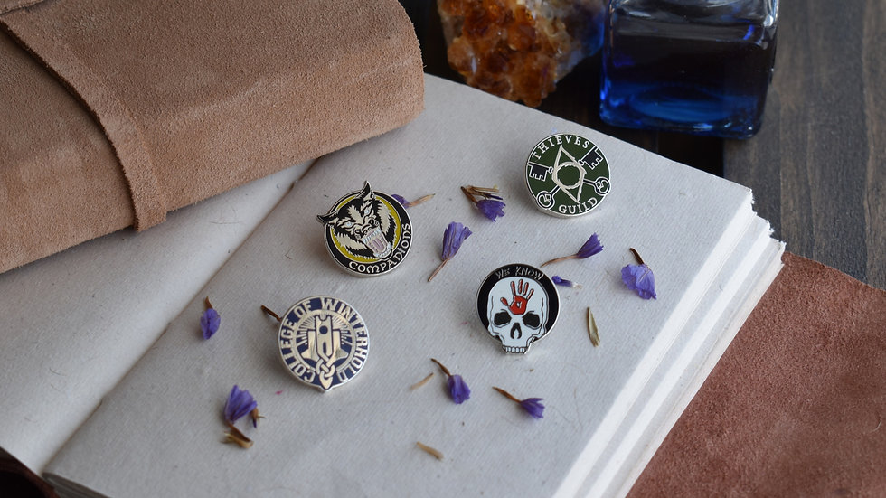 Skyrim Factions Enamel Pin Collection