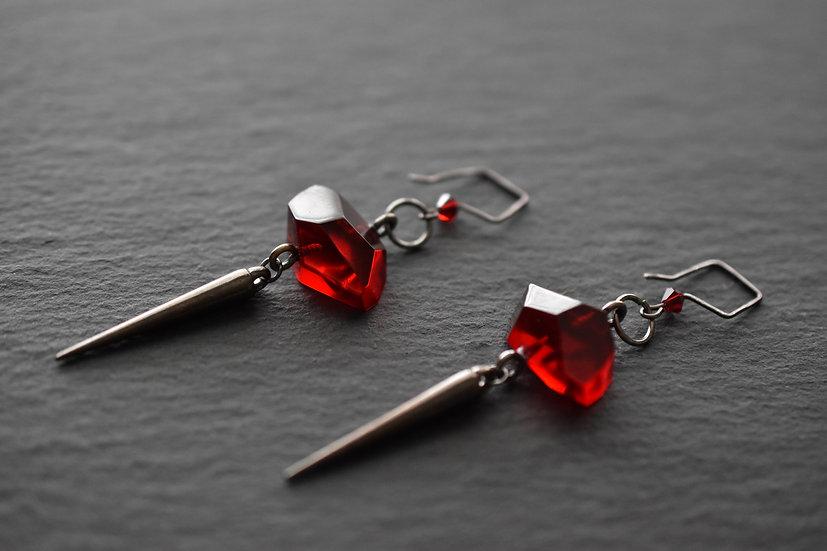 Red Kyber Earrings