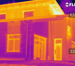 air barrier testing, infrared thermography