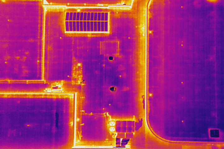 Infrared images of roof
