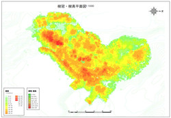 SLAMデータから樹冠樹高平面図を作成