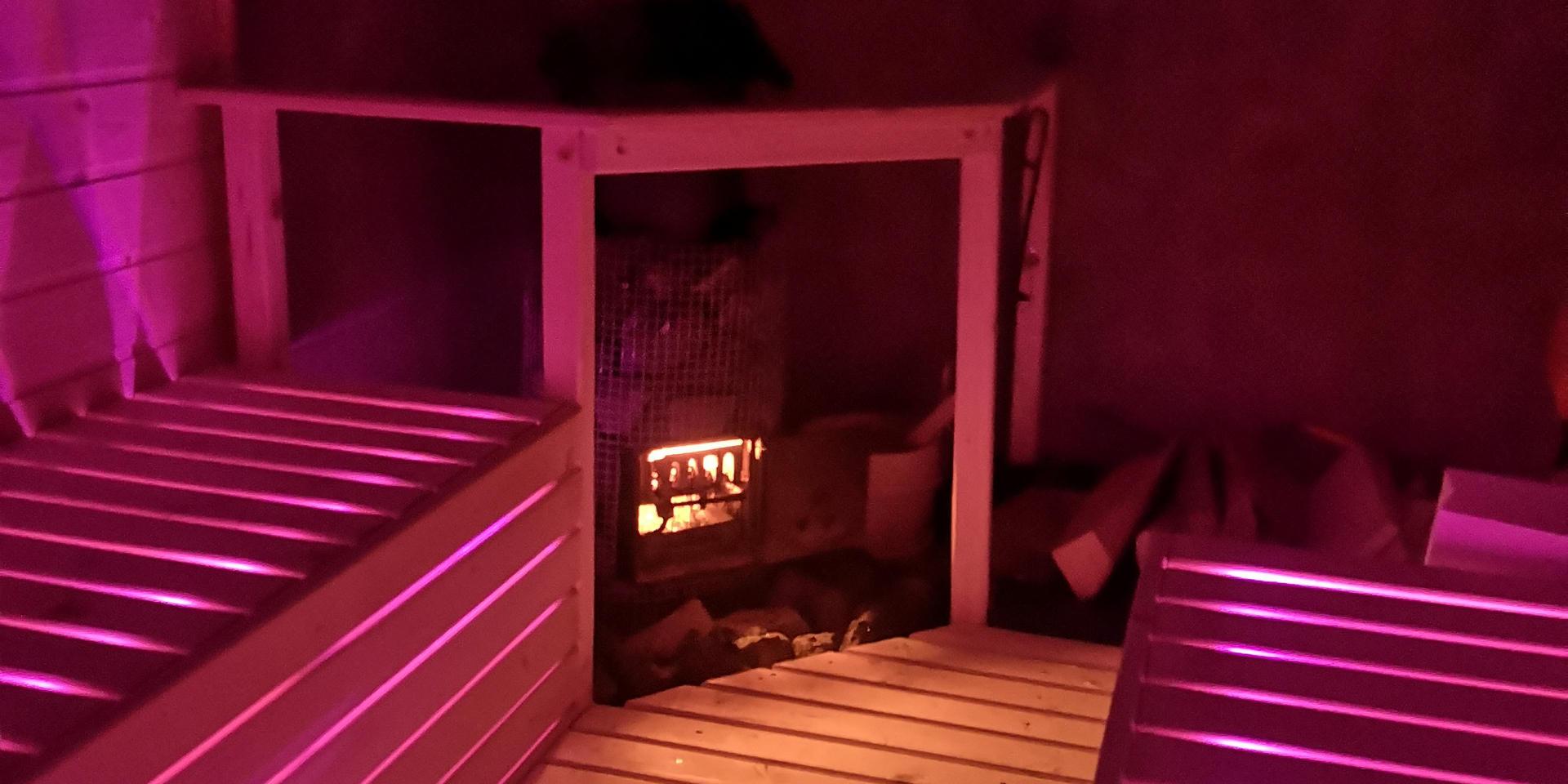 Intérieur led Sauna