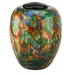 Serenade Hand Blown Glass Urn