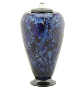 Bluefire Hand Blown Glass Urn