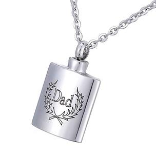 Dad Flask Pendant Necklace