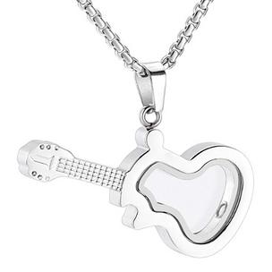 Glass Guitar Memorial Necklace