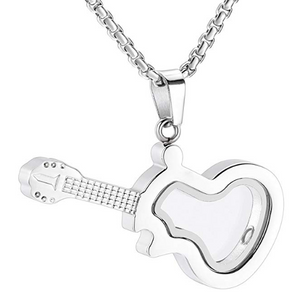 Glass Guitar Memorial Necklace