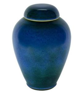 Bay Blue Ceramic Urn