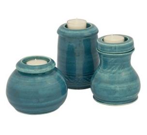 Deep Sea Ceramic Memorial Candle Urn