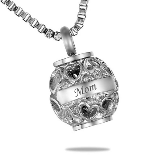 Hollow Heart Memorial Pendant