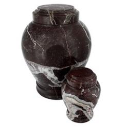 Burgundy Marble Urn