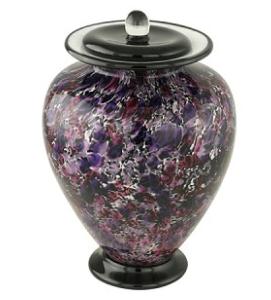 Cadence Hand Blown Glass Urn