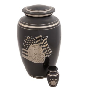 American Eagle Brass Urn