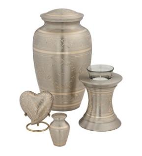 Platinum Elegance Brass Urn