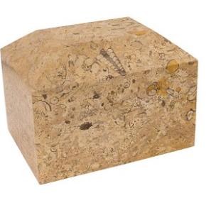 Alpha Ingot Beige Genuine Marble Urn
