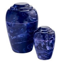 Cobalt Grecian Cultured Marble Urn